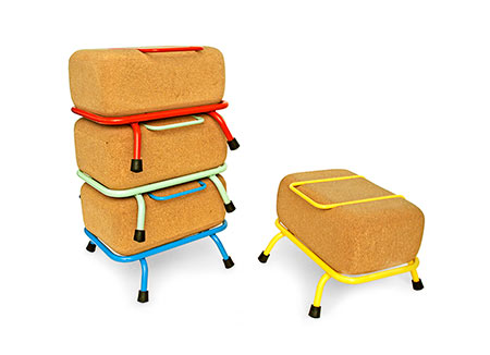Tupa stools Parkids experimental furniture collection Tupa taburetes apilables colección Parkids Rafel Oliva y Cristian Montesinos