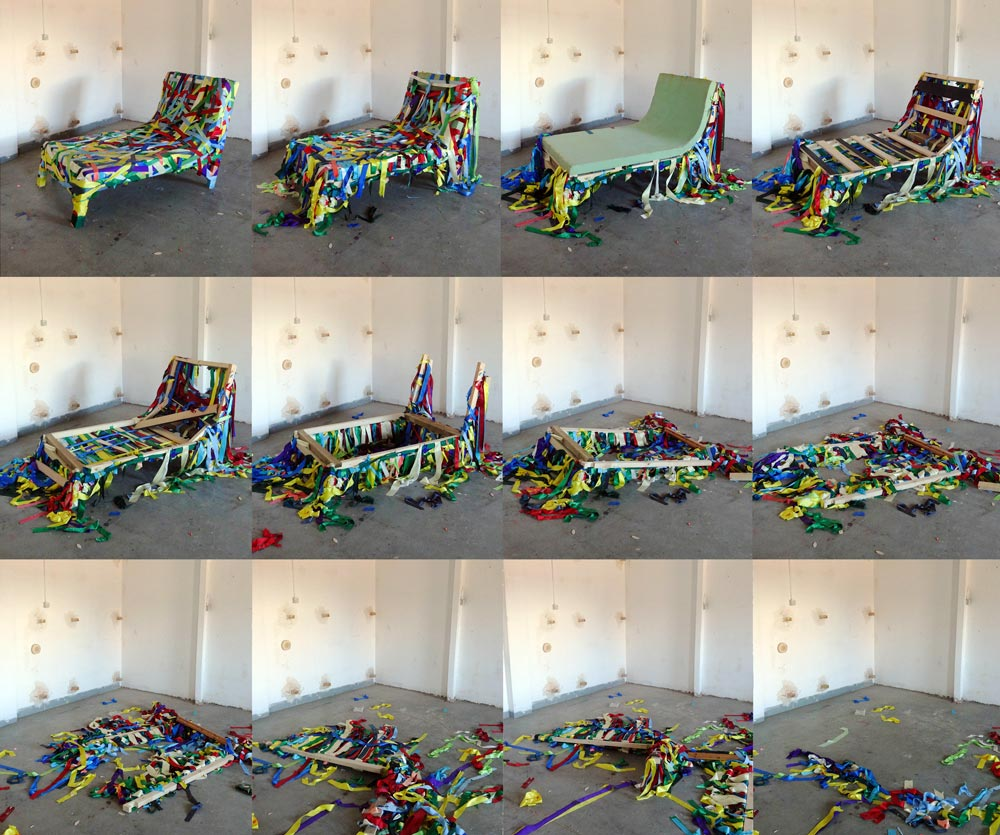 destruction of a daybed process cristian-montesinos
